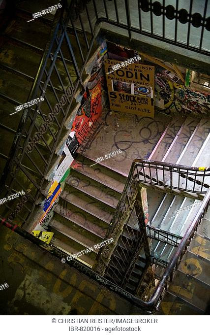 Staircase in the Kunsthaus Tacheles, Oranienburg Road, Berlin-Mitte, Germany, Europe