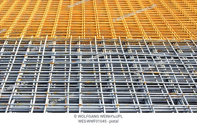 Construction steel, grid, full frame