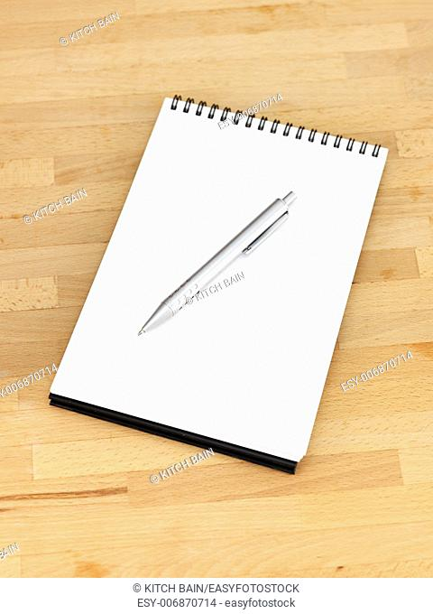 A close up shot of a stationery note pad