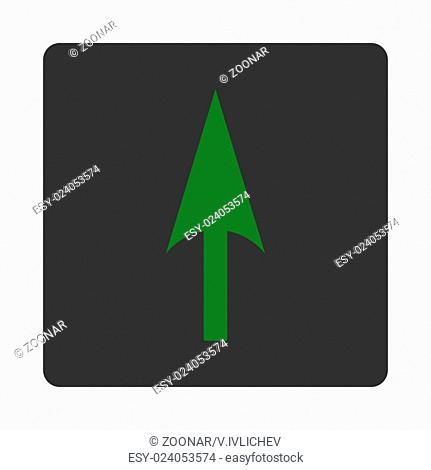 Arrow Axis Y flat green and gray colors rounded button