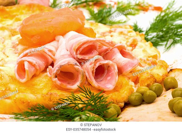 Photo of Salad with ham and vegetables