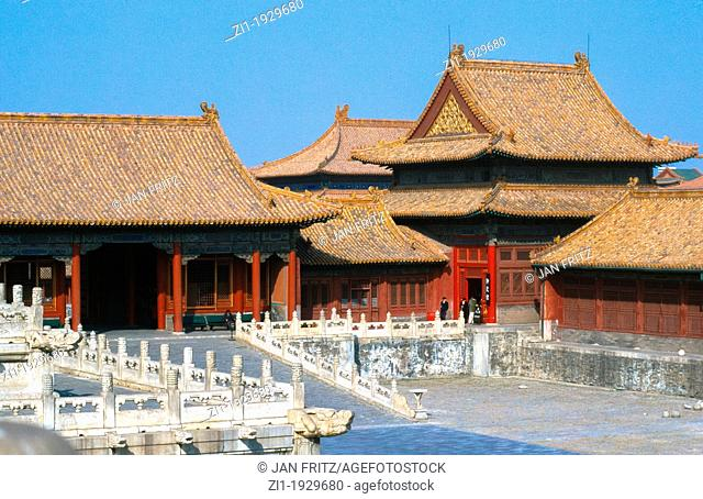 inside the 'Forbidden City' in Beijing