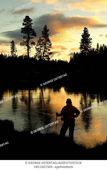 Deschutes Wild and Scenic River sunrise along Deschutes River Trail, Deschutes National Forest, Oregon