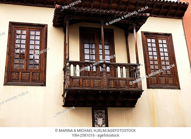 Wood Balcony; Puerto de la Cruz, Teneriffa; Spain