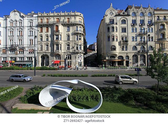 Hungary, Budapest, Március 15 tér, square, architecture,