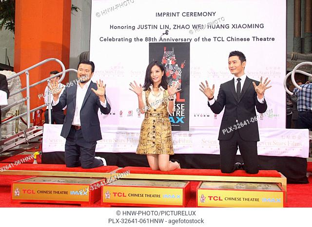 Justin Lin, Zhao Wei, Huang Xiaoming 06/03/2015 88th Birthday Commemoration Of TCL Chinese Theater IMAX held at the TCL Chinese Theatre in Hollywood