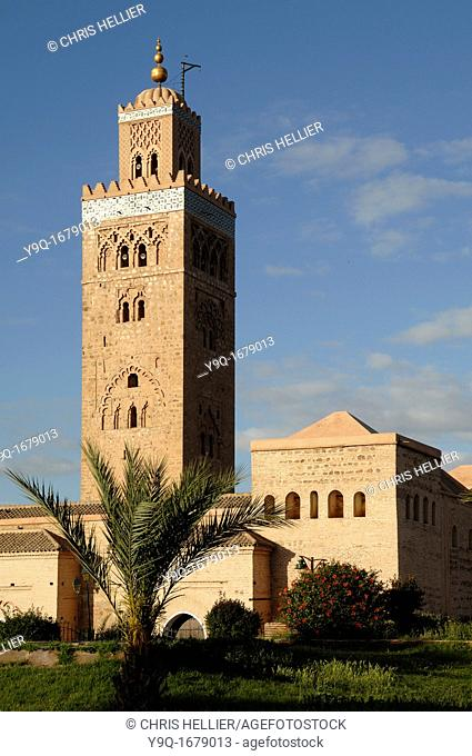 Koutoubia Mosque and Minaret c12th Marrakesh or Marrakech Morocco