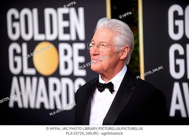 Richard Gere attends the 76th Annual Golden Globe Awards at the Beverly Hilton in Beverly Hills, CA on Sunday, January 6, 2019
