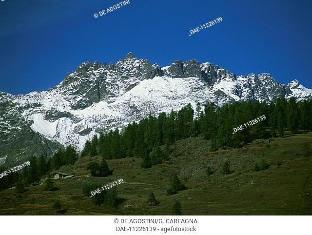 Punta Tzan (3,320 metres), Saint-Barthelemy valley, Valtournenche, Aosta Valley, Italy