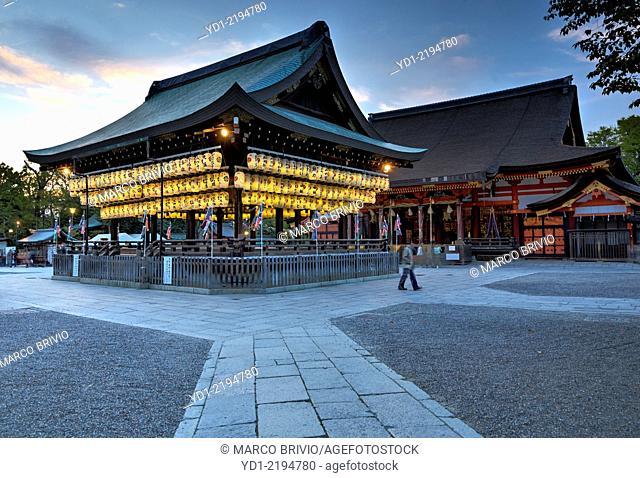 Paper lanterns night view at Yasaka shrine, Kyoto