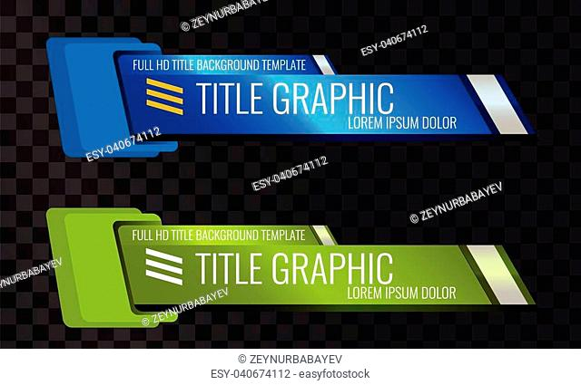 Set of Video headline title or lower third template. Creative banner design for video