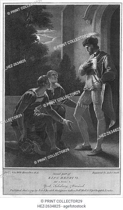 'Second part of King Henry VI. Act 2. Scene 2. York, Salisbury & Warwick', 1795. Artist: Anker Smith