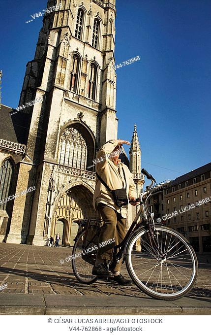 Sint Baafsplein, Ghent. Flemish region, Belgium