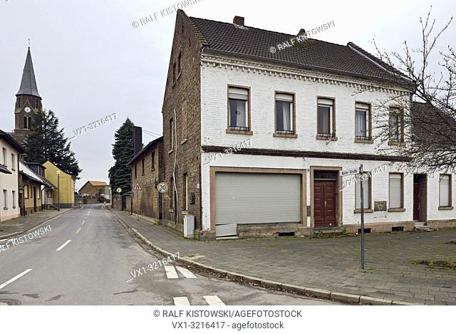 December 2018, Manheim, Kerpen-Manheim, Nordrhein-Westfalen, Germany - vacated Church St. Albertus and abandoned houses after resettlement in preparation for...