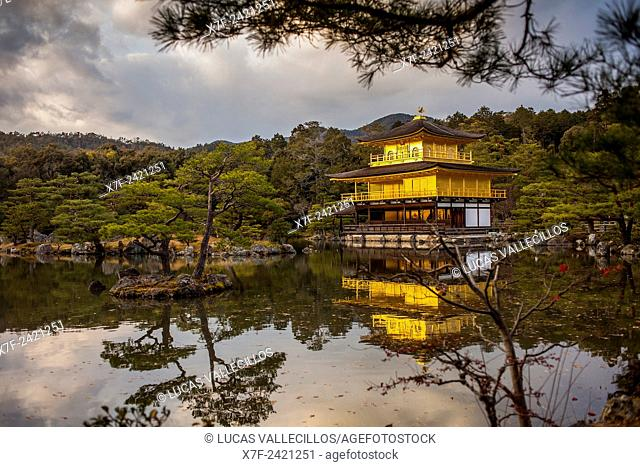 Kinkakuji temple,golden Pavilion,UNESCO World Heritage Site,Kyoto, Japan