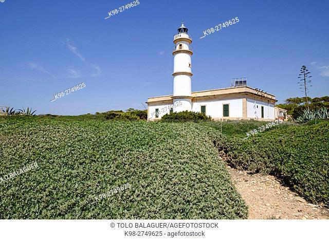 faro de Cap Salines, estacion de investigacion costanera, IMEDEA, Majorca, Balearic Islands, Spain