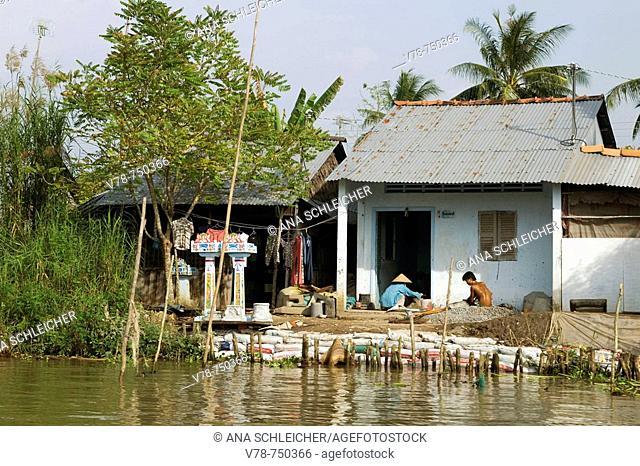 An Binh island. Mekong Delta. Vietnam