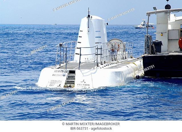 Submarine Atlantis 7 at the coast of Cozumel, Yucatan Peninsular, Mexico