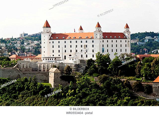 Bratislava in the Slovak Republic of the European Union.Castle Hill and Castle