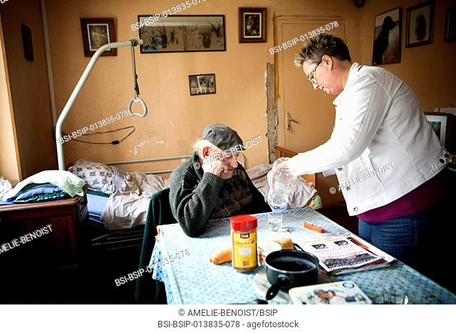 Reportage on a community nurse making home visits in a rural area