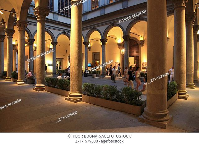 Italy, Tuscany, Florence, Palazzo Strozzi, palace, interior