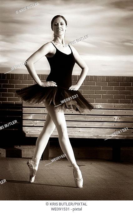 Proud Ballerina standing En Pointe