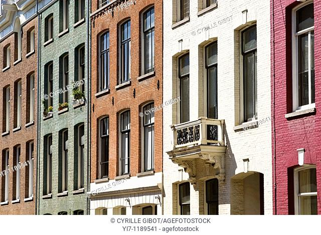 Row houses, PC Hooftstraat, Amsterdam, the Netherlands