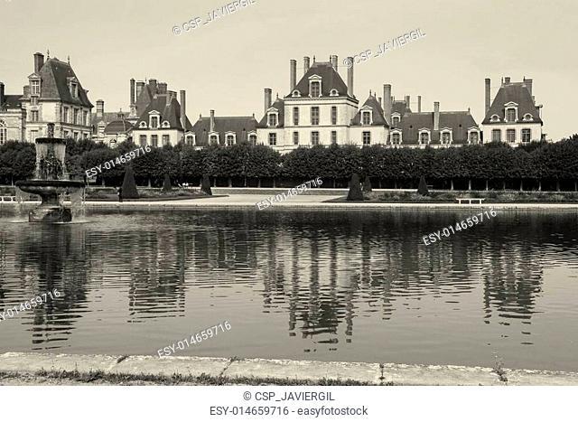 Fontainebleau castle, Seine-et-marne, Ile de France, France