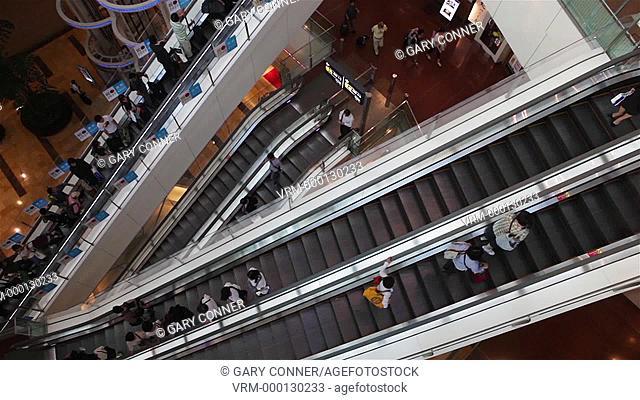Airport interior in Tokyo, Japan