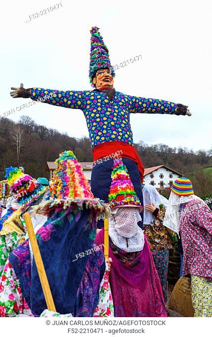 Carnival in Lantz, Navarre, Spain