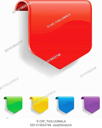 Blank discount labels in different color variants