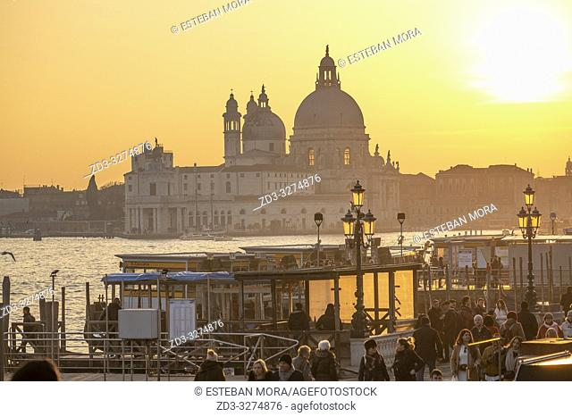 Sunset from Riva degli Schiavoni, Venice, Italy