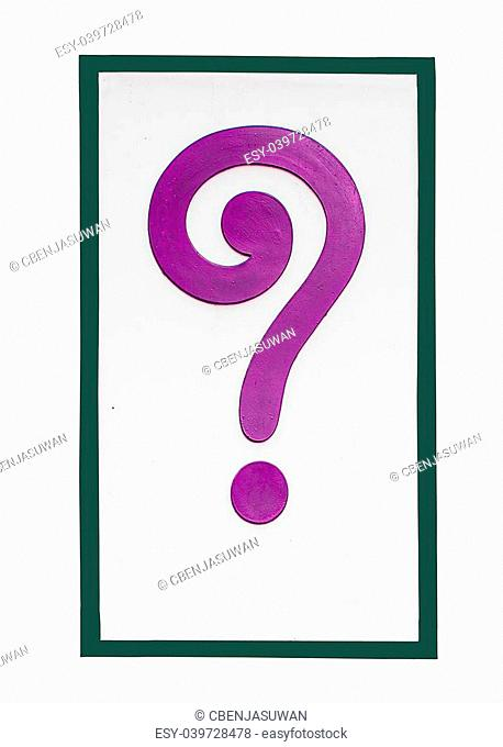 Sign of question mark isolated on white background
