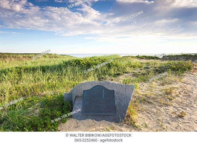 USA, Massachusetts, Cape Cod, Wellfleet, Marconi Beach, Marconi Station Site, site of the first US transatlantic cable telegraph station, b. 1902