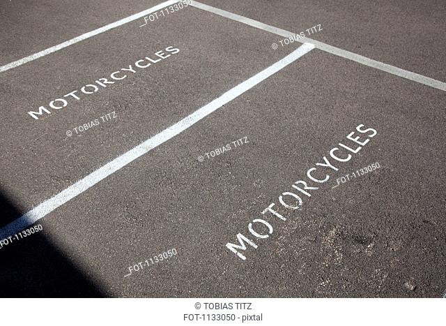 Two motorcycle parking spaces