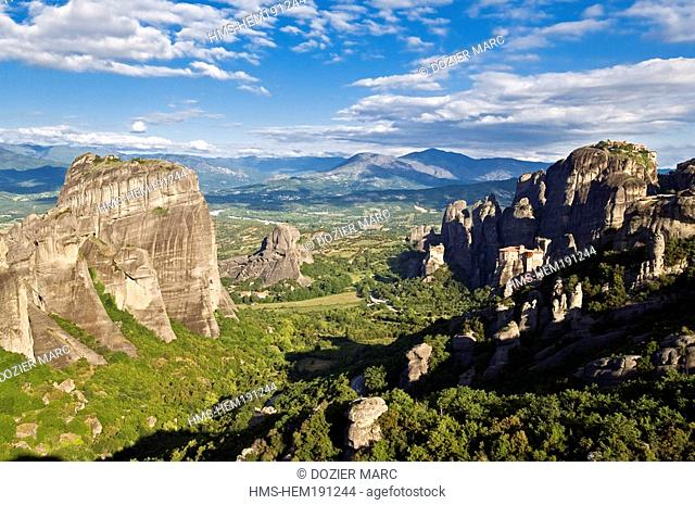 Greece, Thessaly, Meteora listed as World Heritage by UNESCO, Meteora valley