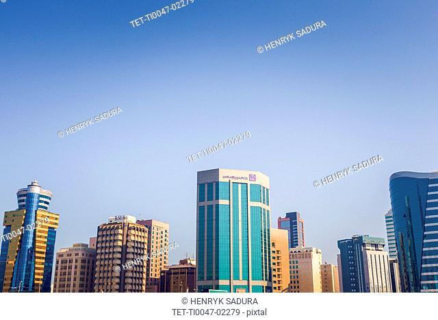 City skyline in Manama, Bahrain