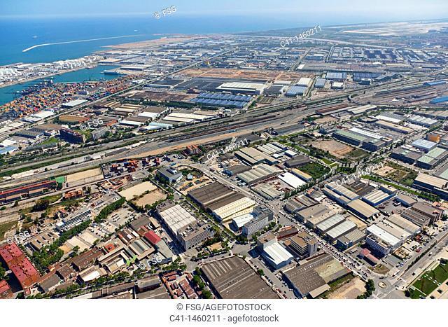 Industrial state of Zona Franca  Barcelona, Spain