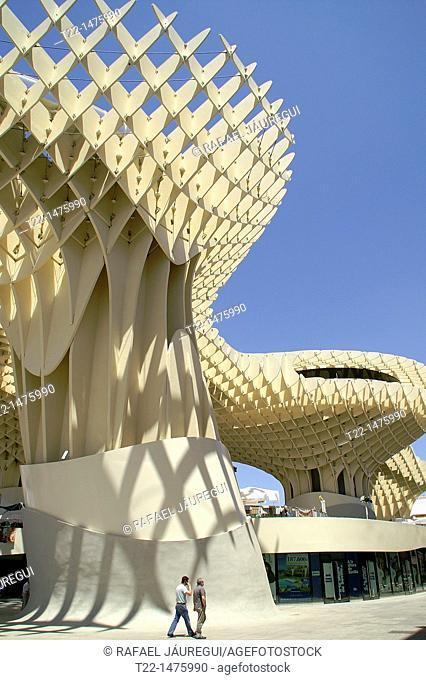 Sevilla Spain  Metropol Parasol in the Plaza de la Encarnación in Seville