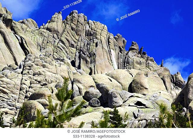 Nevazo cliffs of La Pedriza Regional Park Cuenca Alta del Manzanares Madrid