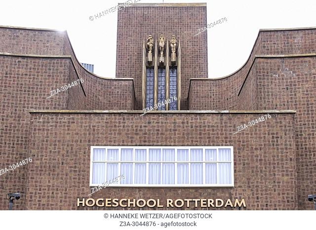 High school at Museumpark in Rotterdam, the Netherlands