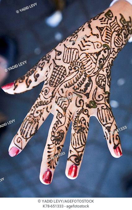 Henna Tattoo, Marrakesh, Morocco