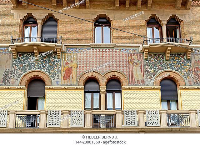 Padua, Padova, building, typical, historical, mural painting