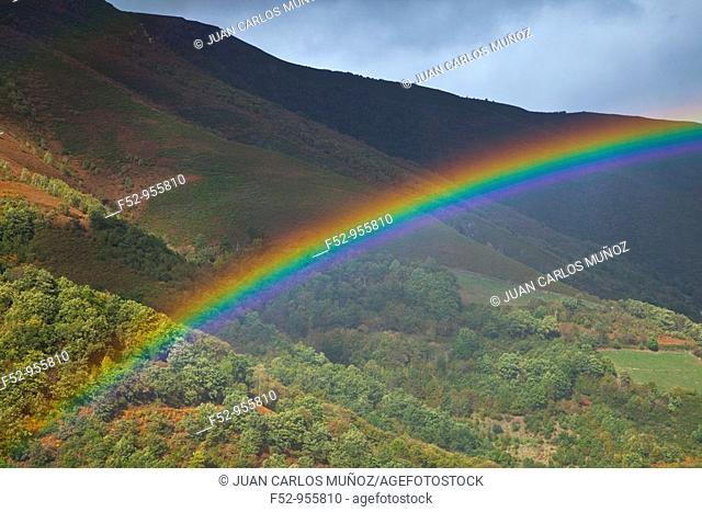 Rainbow, Fuentes del Narcea Natural Park, Asturias, Spain