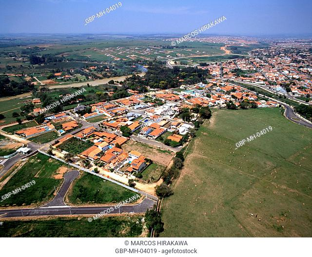 Aerial view, Indaiatuba, Sao Paulo, Brazil