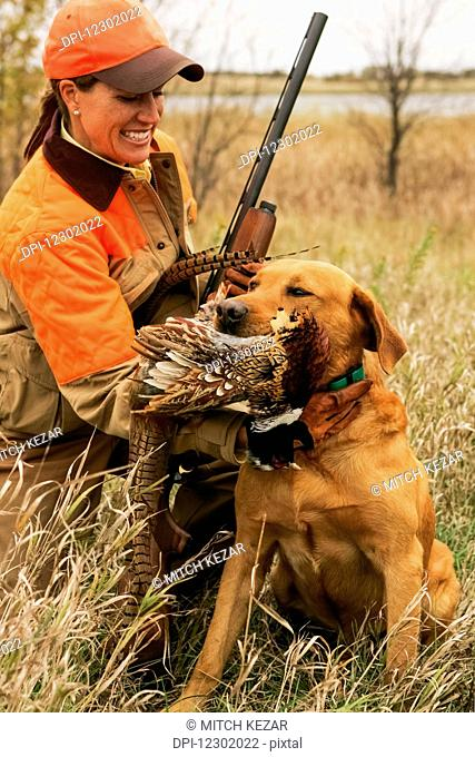 Female Upland Hunter With Rusty Lab