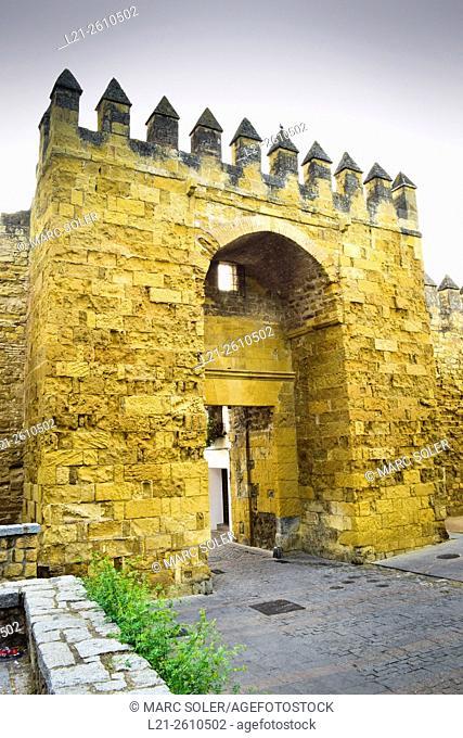Puerta de Almodovar, gate. Entrance to the historical center of Cordoba. Córdoba, Andalusia, Spain