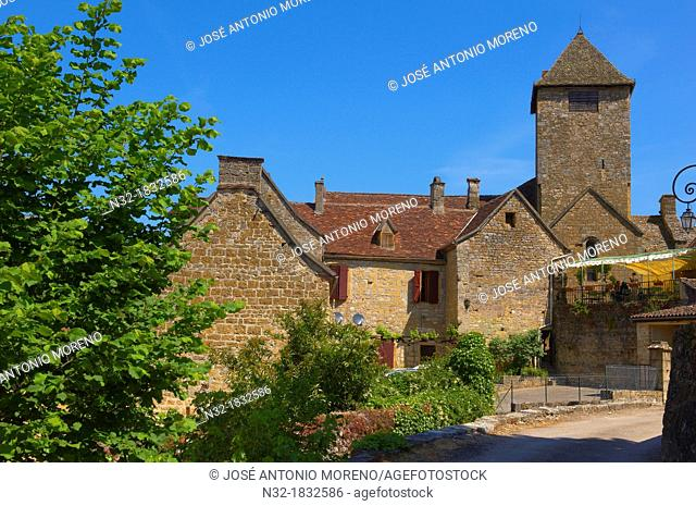 Autoire, labelled Les Plus Beaux Villages de France, The Most Beautiful Villages of France, Midi-Pyrenees Region, Lot Department, France, Europe