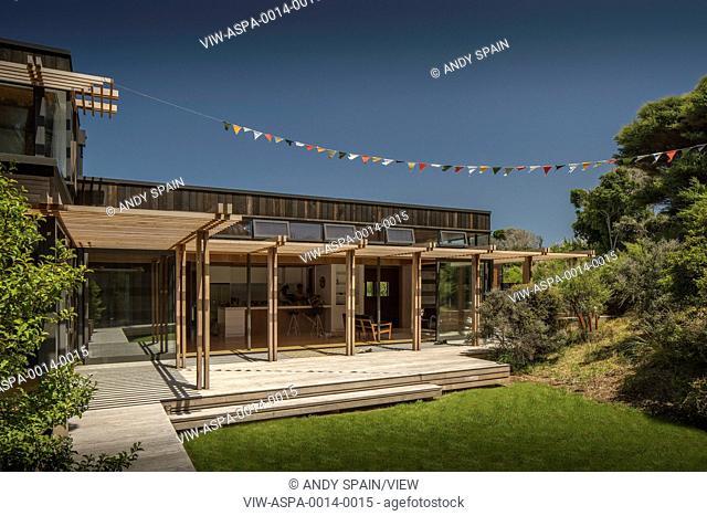 Garden house cedar Stock Photos and Images | age fotostock