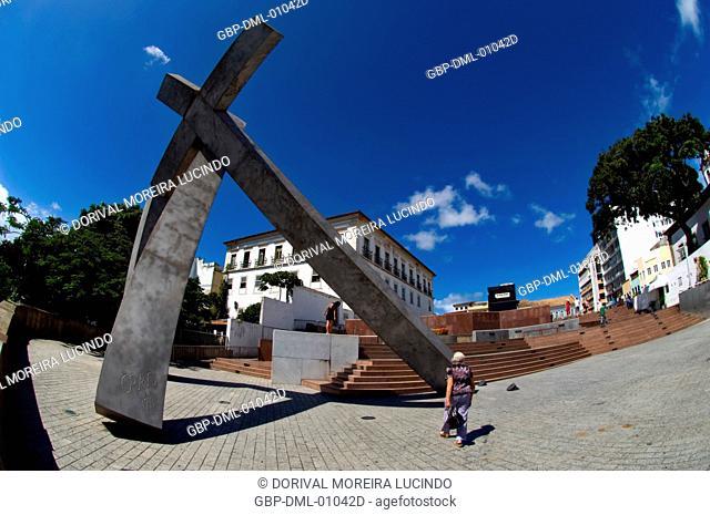 Cruz Caída, Sé Square, Salvador, Bahia, Brazil